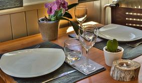 Restaurant à la carte Petit-déjeuner Hôtel La Mayt