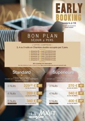 Early Booking jusqu'à J-15