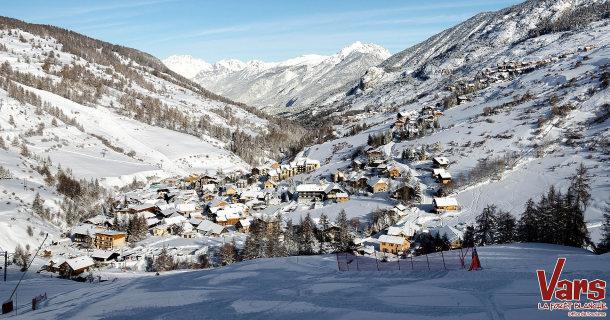 Le village de Sainte-Marie et notre hôtel au pied des pistes à Vars