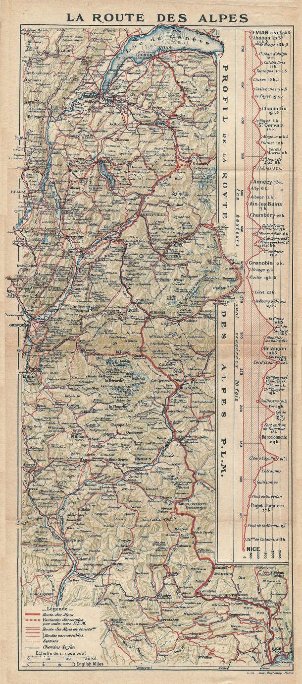 Itinéraire de la route des Grandes Alpes